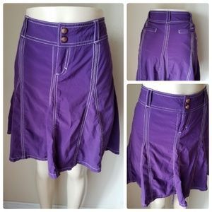 Athleta Purple Active Wear Pleated Skirt